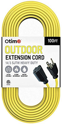 extension cord 100 foot for lawn mower